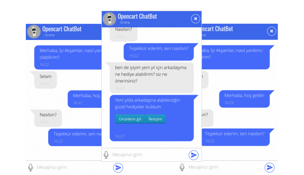 Opencart ChatBot