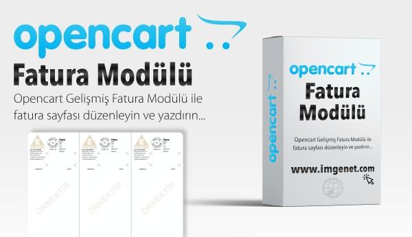 Opencart Fatura Düzenleme Modülü