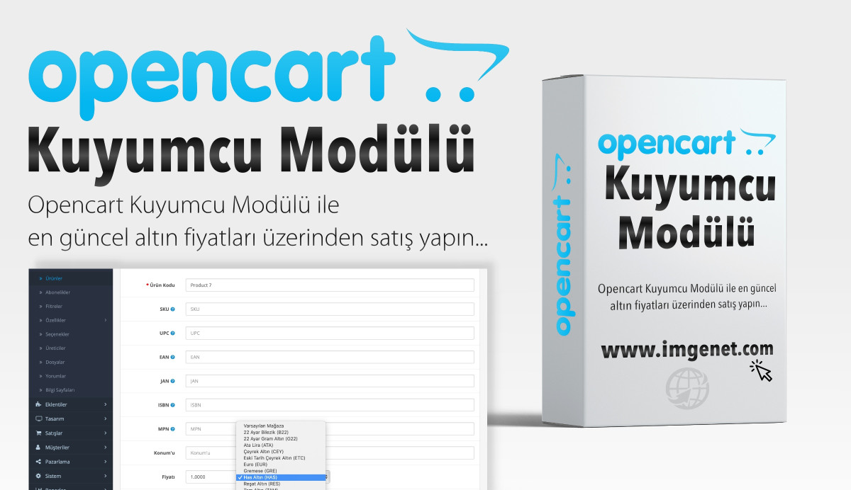 Opencart Kuyumcu Altın Fiyatları Modülü
