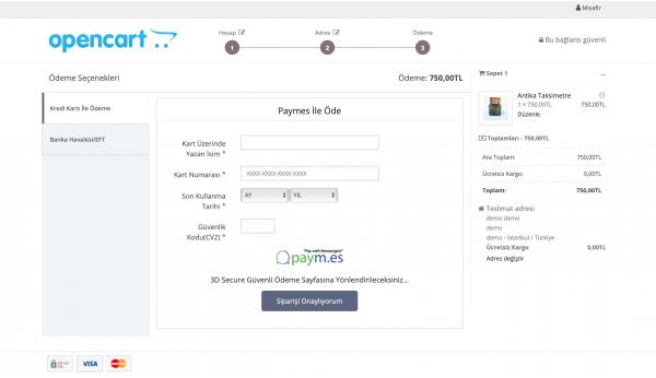 Opencart Paymes Sanal Pos Modülü