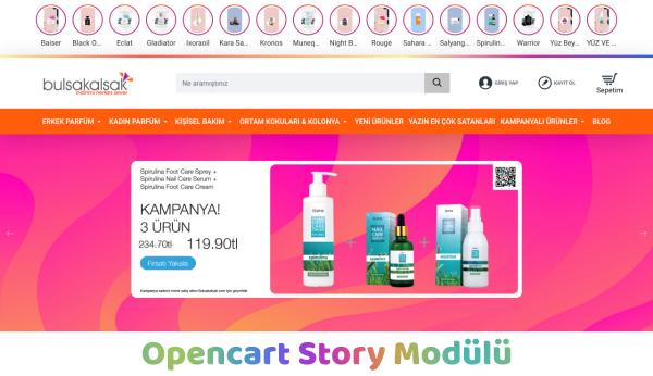 Opencart İnstagram Story Modülü