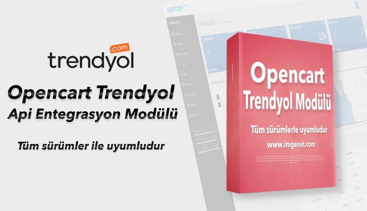 Opencart Trendyol API Entegrasyon Modülü