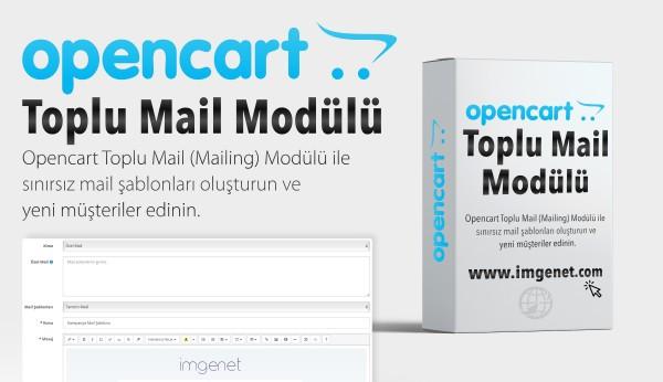 Opencart Toplu E-Mail (Mailing) Modülü