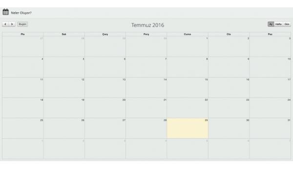 Opencart Admin Paneli için Takvim Modülü