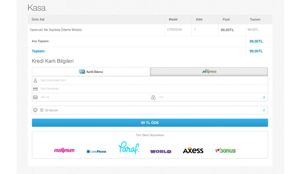 Opencart Tüm Bankalar Sanal Pos Modulü + Kurulum